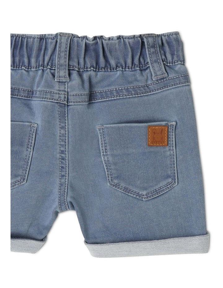 Knit Denim Shorts image 4