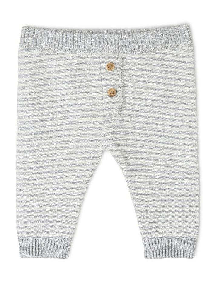 Organic Cotton Striped Knitted Legging image 1