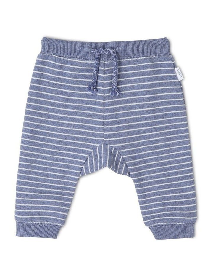 Essential Navy Striped Track-Pant image 1