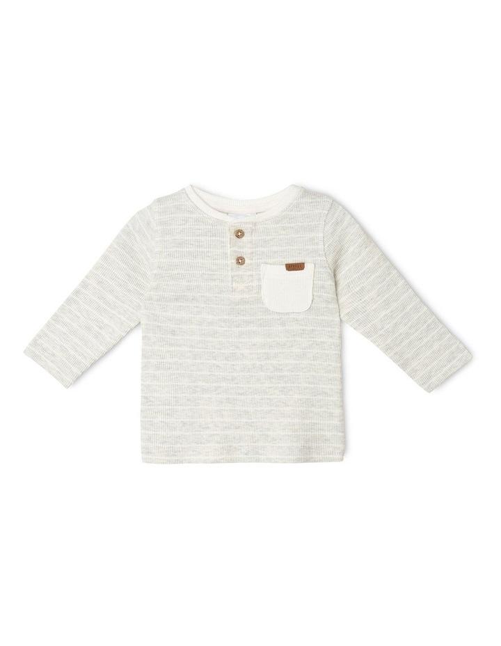 Boys Rib-Knit Henley T-Shirt image 1