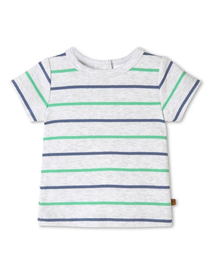 Yarn Dye Stripe Rib T-Shirt image 1