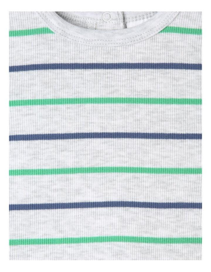 Yarn Dye Stripe Rib T-Shirt image 2