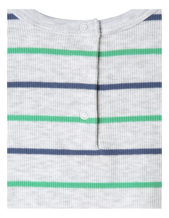 Yarn Dye Stripe Rib T-Shirt image 3