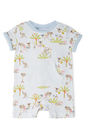 Sprout - Boys Romper with Kangaroo Pocket NBS19022.