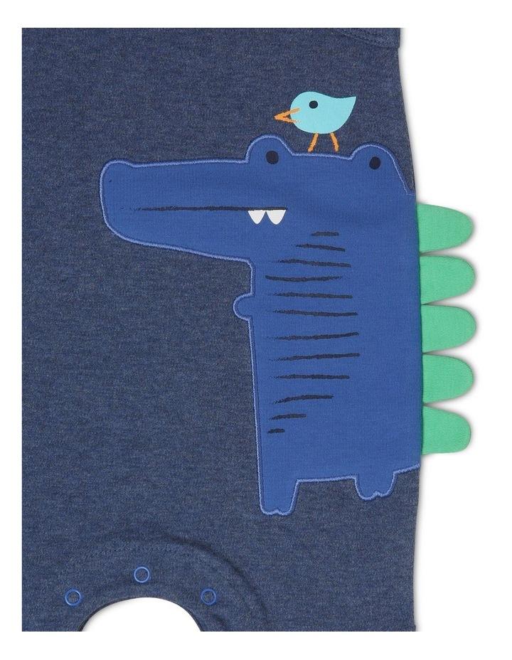 Sleeveless Romper With Crocodile Spikes image 3
