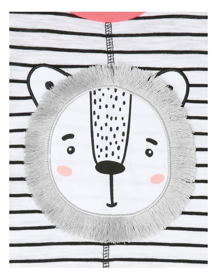Boys Short-Sleeve Romper - Lion Appliqu image 3