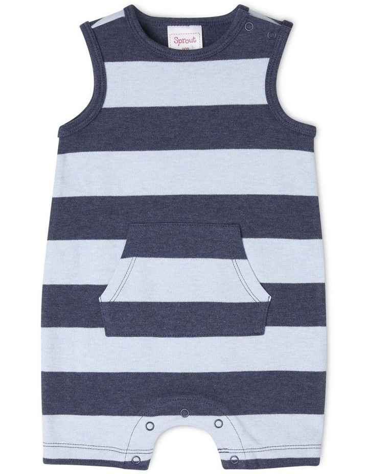 Boys Sleeveless Romper - Marle Stripe image 1
