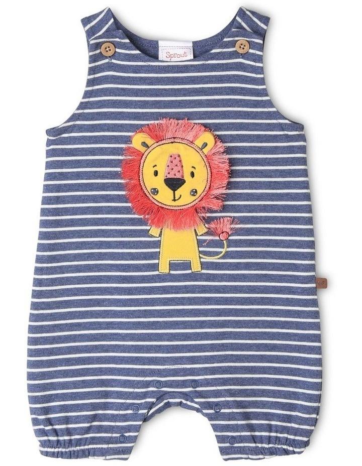 Lion Applique Stripe Romper image 1