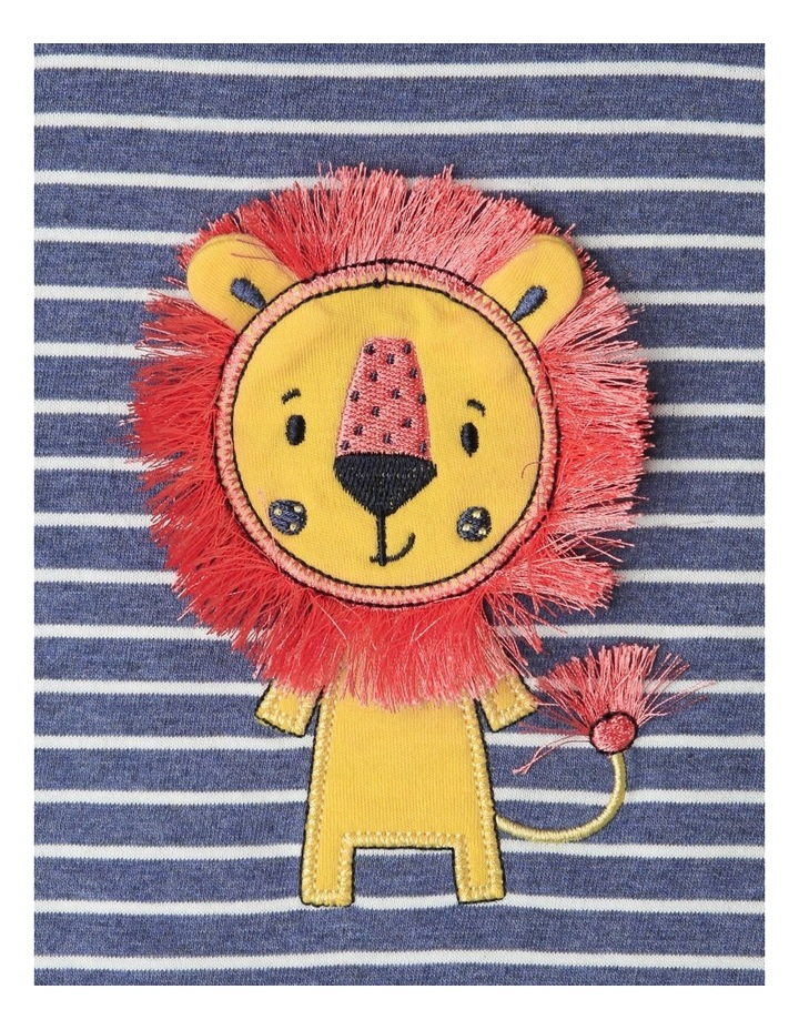 Lion Applique Stripe Romper image 2