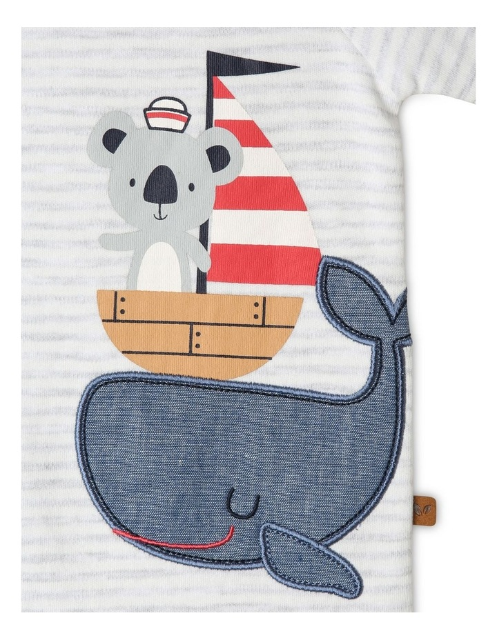 Whale Boat Stack Romper image 3