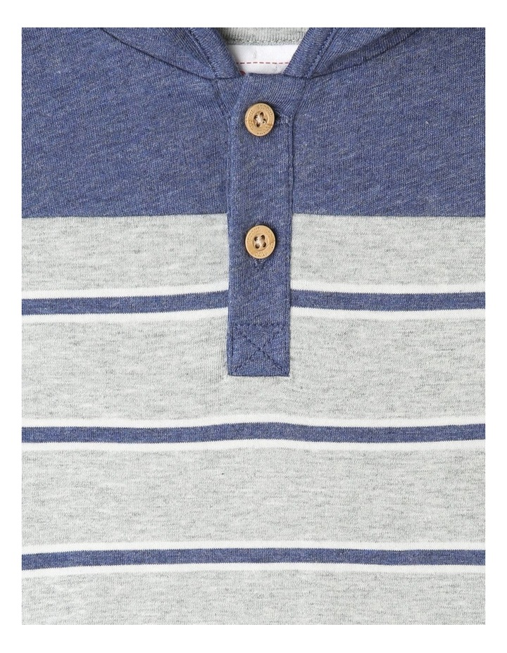 Hooded Henley Yarn Dye Stripe Romper image 2