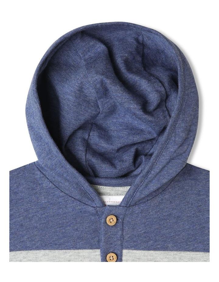 Hooded Henley Yarn Dye Stripe Romper image 3