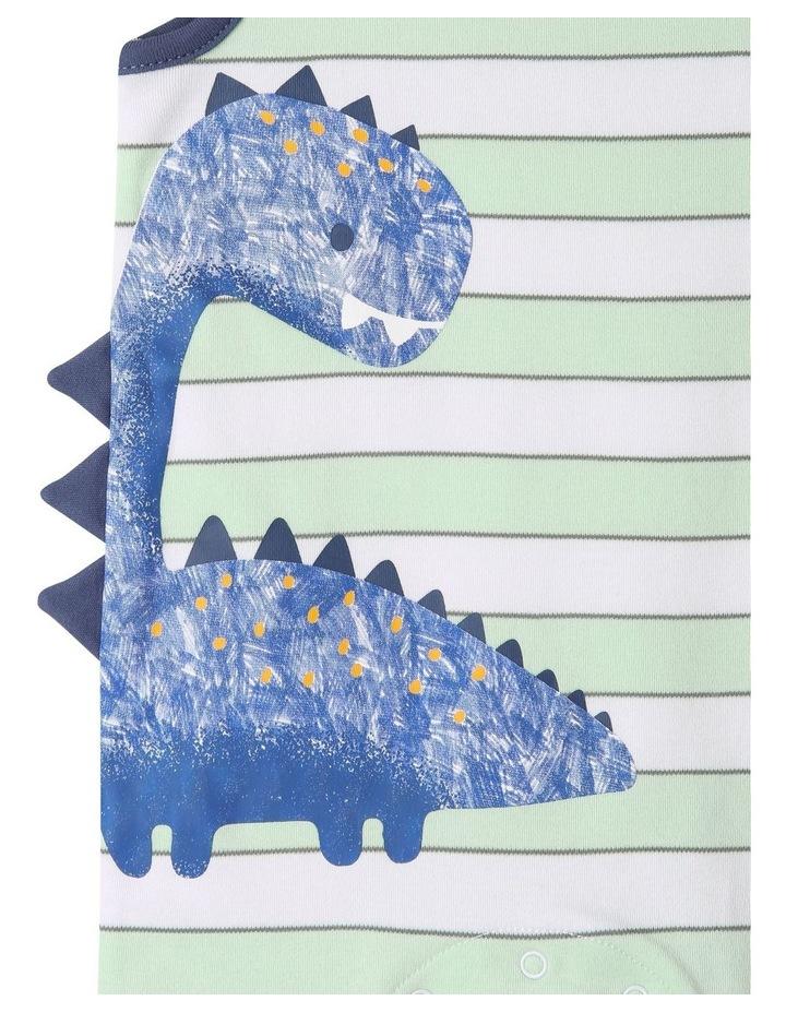 3D Bleusaurus Sleeveless Romper image 3
