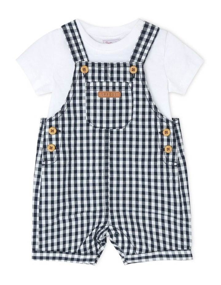 Gingham Overall Set image 1