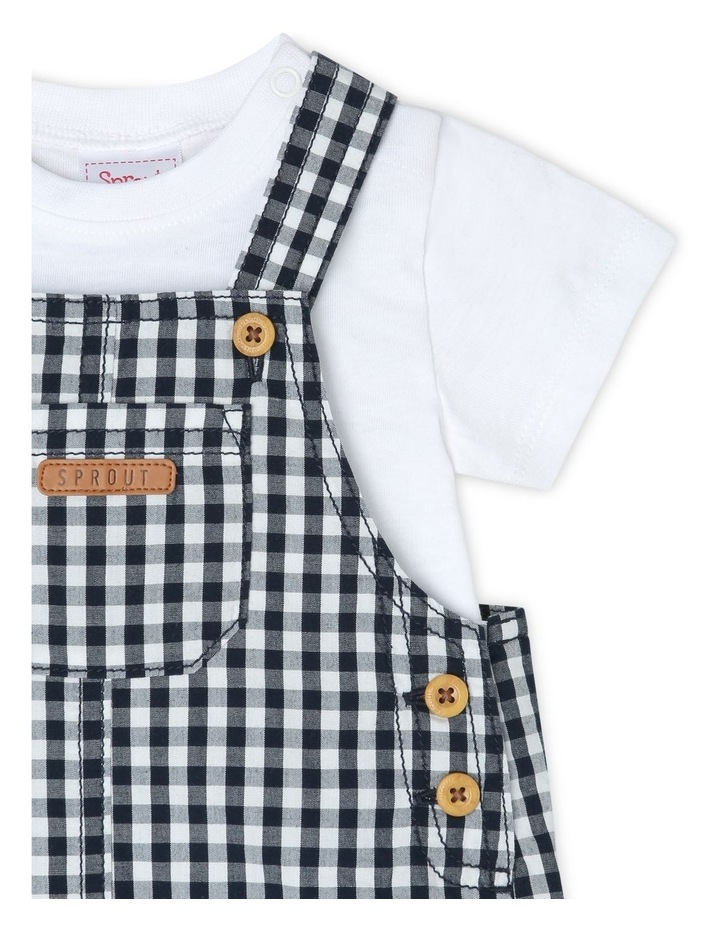 Gingham Overall Set image 3