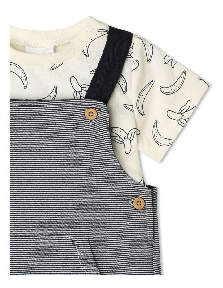 Banana Tee Stripe Knit Overall Set image 3
