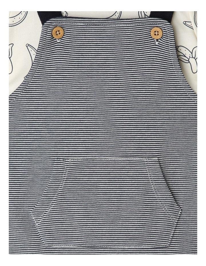 Banana Tee Stripe Knit Overall Set image 4