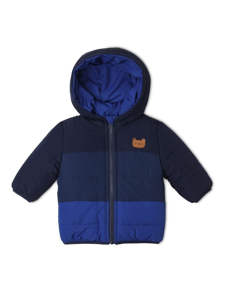 Boys Reversible Spliced Puffer Jacket image 1