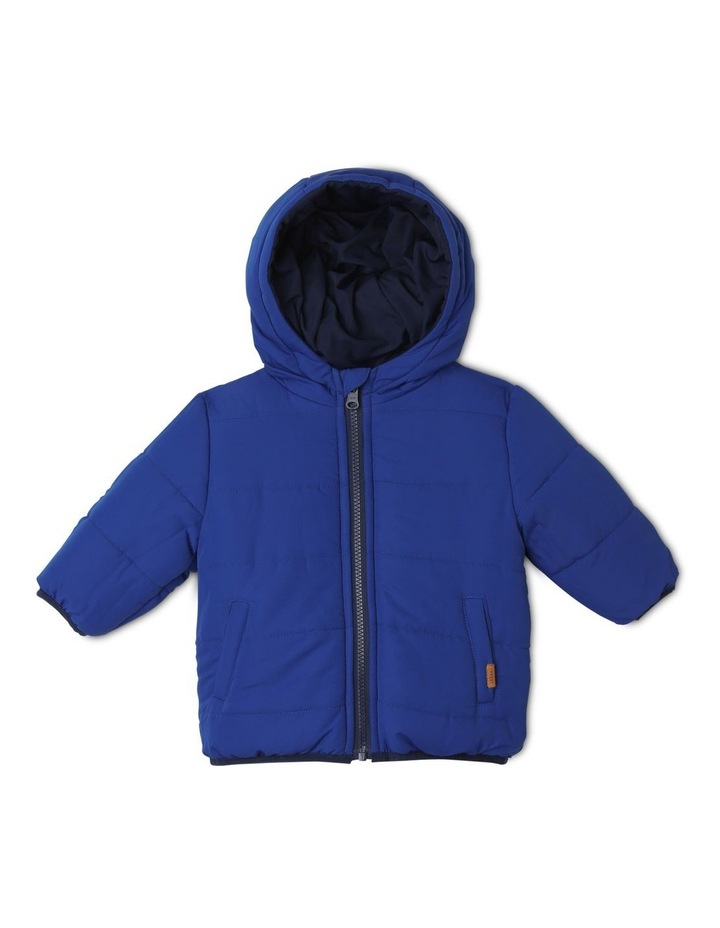 Boys Reversible Spliced Puffer Jacket image 2