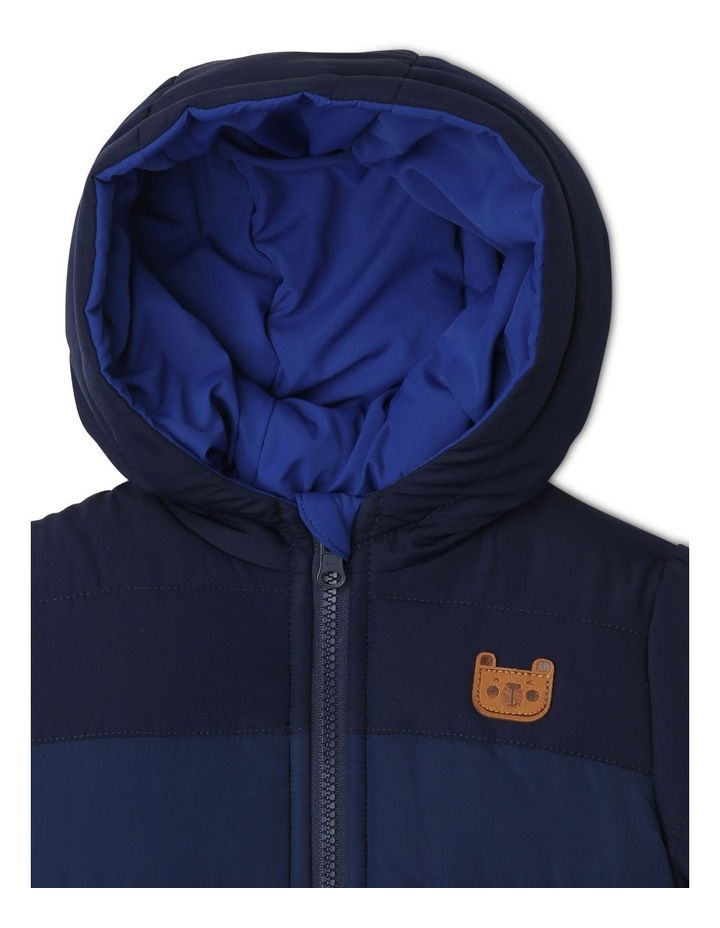 Boys Reversible Spliced Puffer Jacket image 3