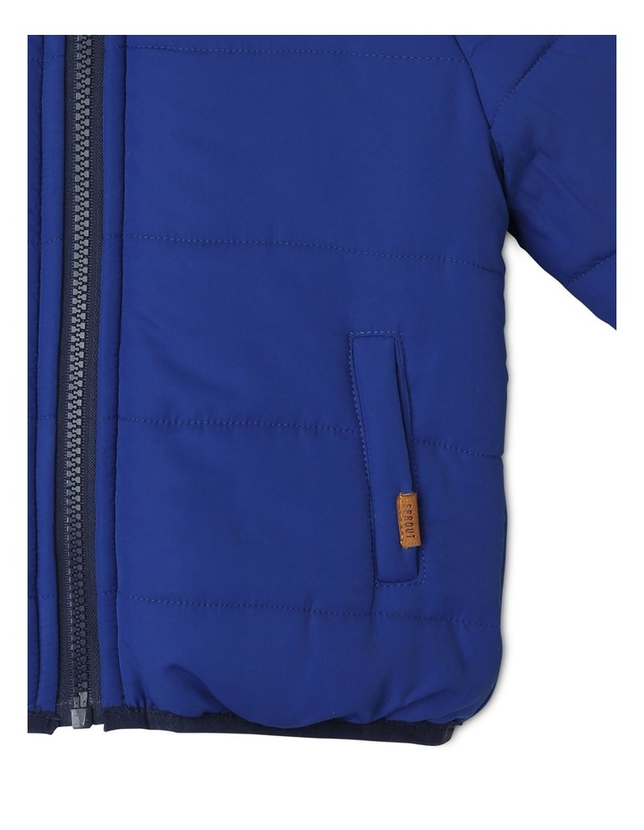Boys Reversible Spliced Puffer Jacket image 6