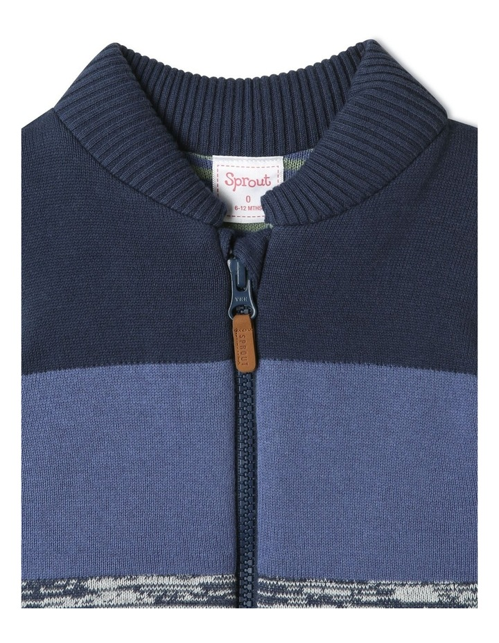 Theo Navy Knit Puffer Vest image 2