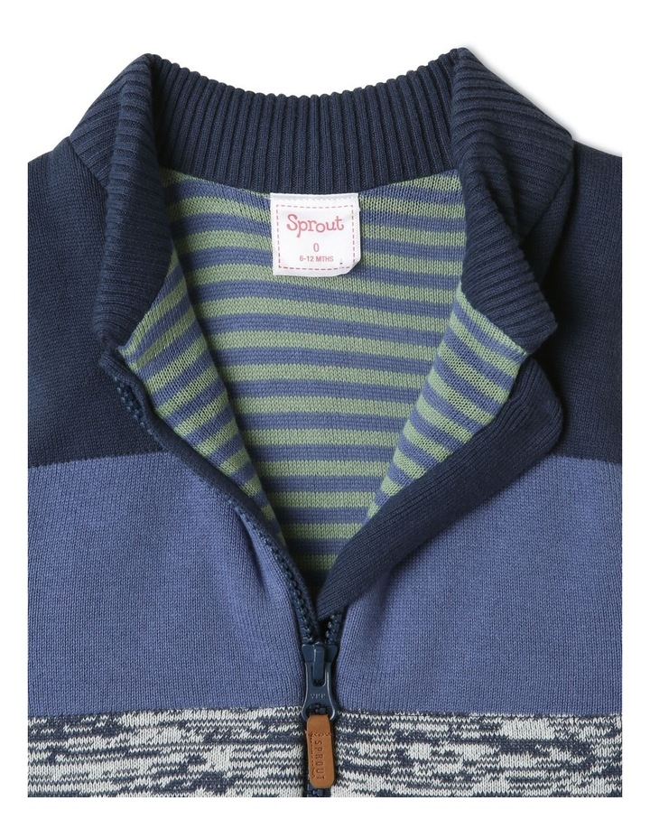 Theo Navy Knit Puffer Vest image 3