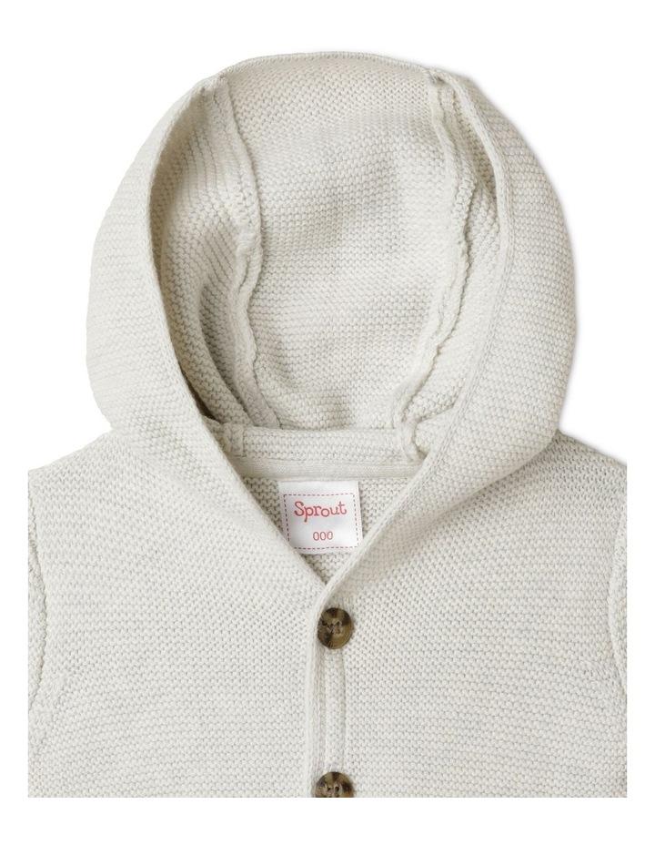 Organic Knit Hood Cardigan image 3
