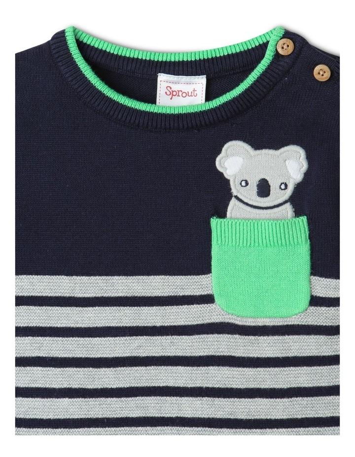 Koala Knit Jumper Navy/Gray image 2