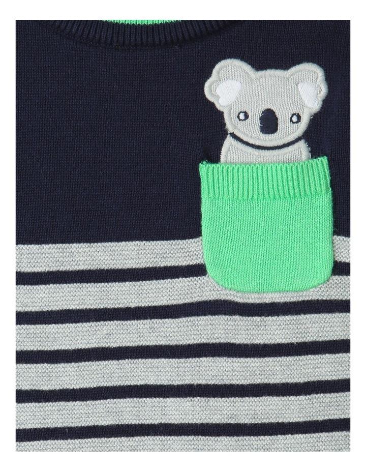 Koala Knit Jumper Navy/Gray image 4