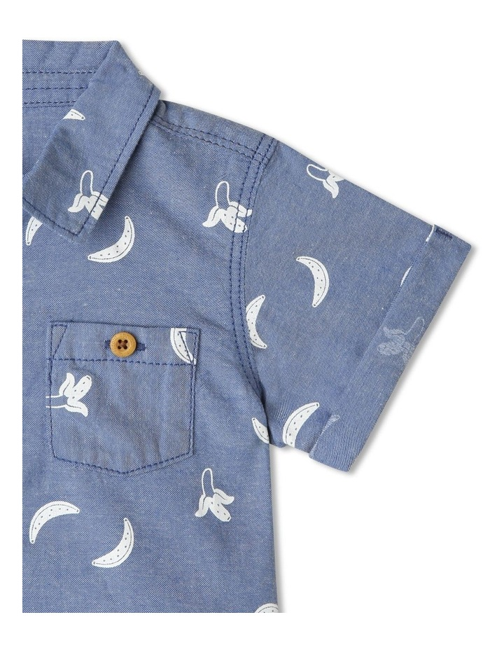 Gone Bananas Print Chambray Shirt image 3
