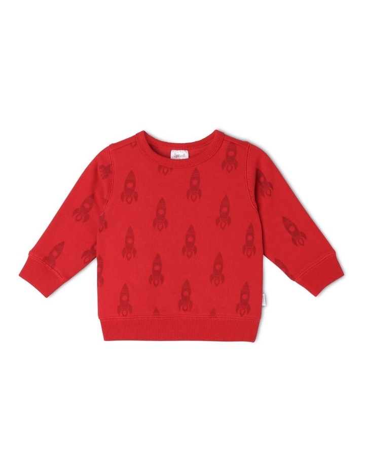 Essential Red Sweat Top image 1