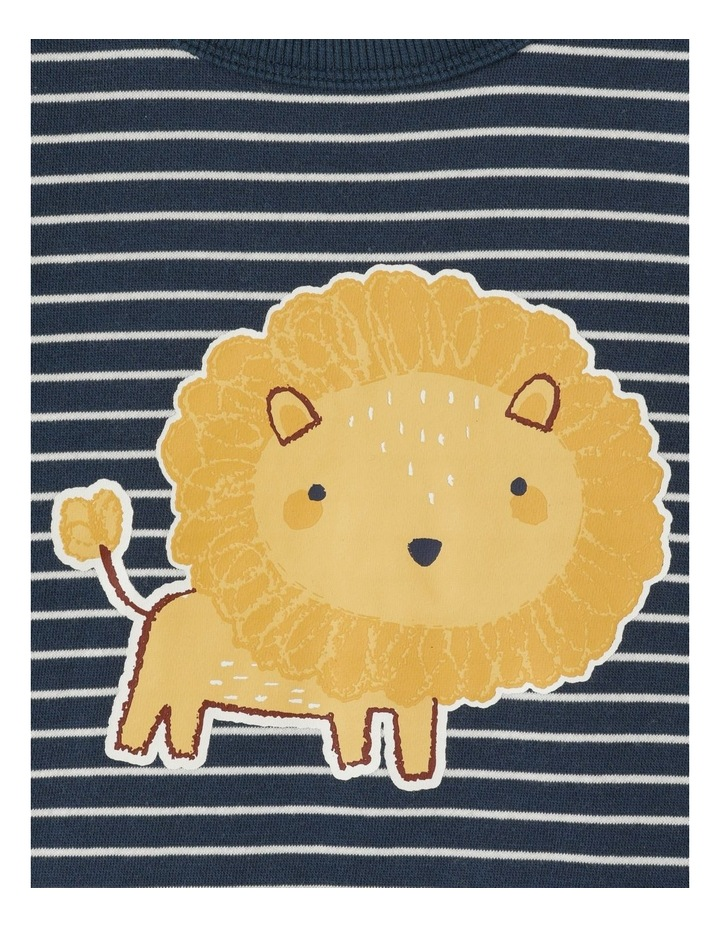Organic Essential Lion Stripe Sweat Top image 2