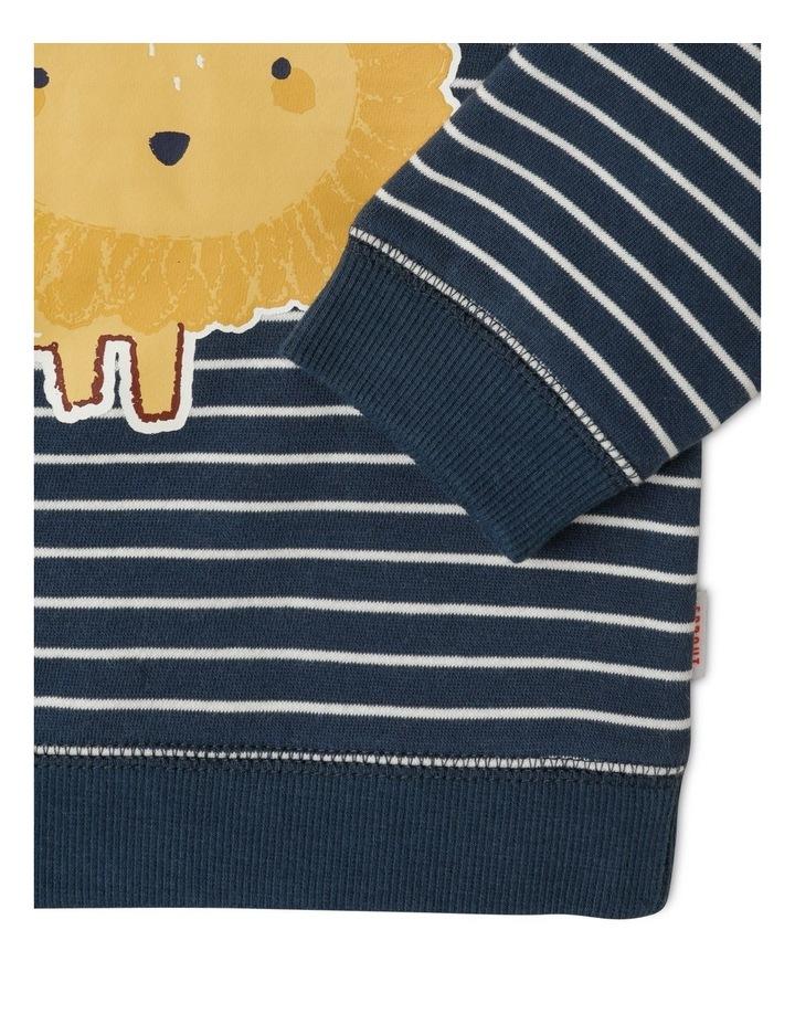 Organic Essential Lion Stripe Sweat Top image 3