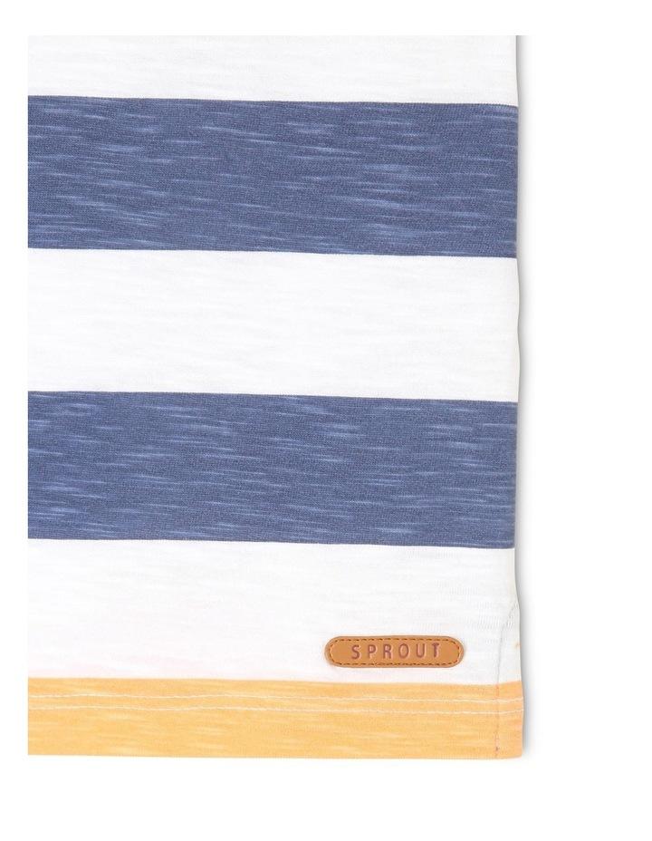 Short-Sleeve T-Shirt with Block Stripe - Block Stripe/White image 3