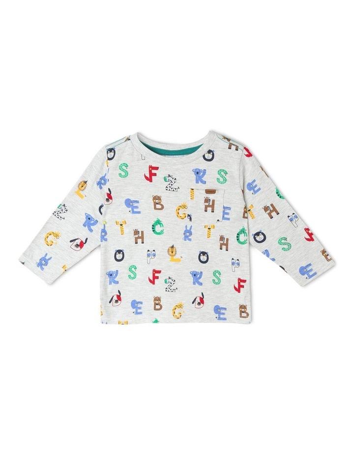 Long-Sleeve Alphabet T-Shirt image 1