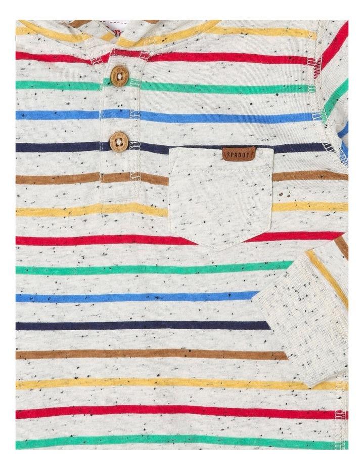 Hooded Rainbow Henley Top image 2