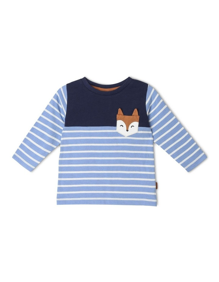 Spliced Long-Sleeve Striped Top image 1