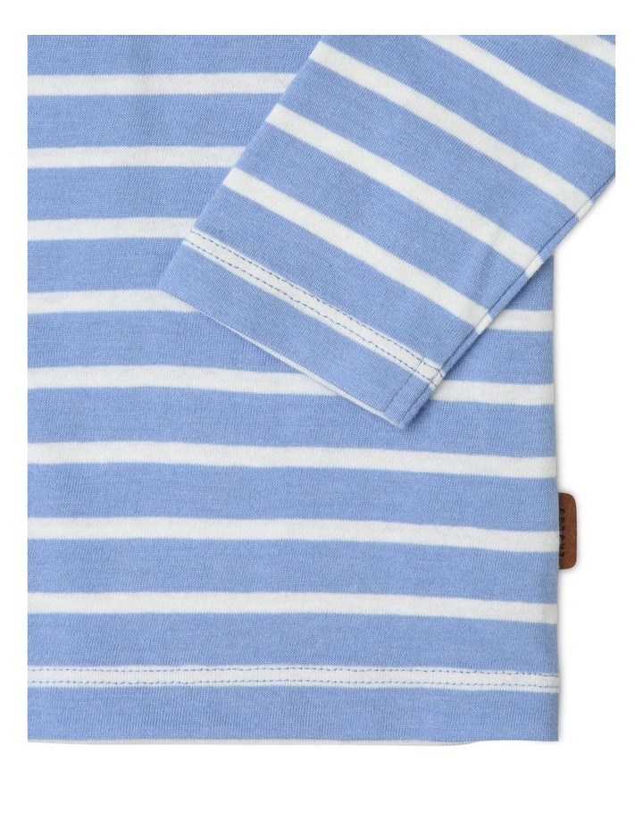 Spliced Long-Sleeve Striped Top image 3