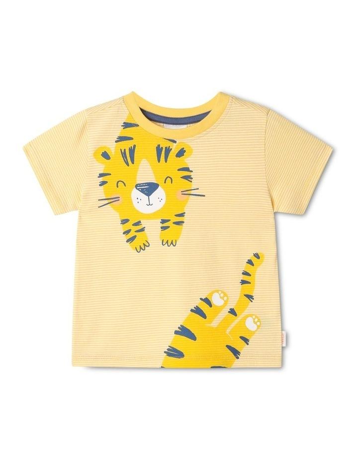 Essential Hey Tiger Print Yarn Dye T-Shirt image 1