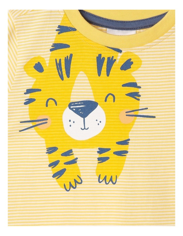 Essential Hey Tiger Print Yarn Dye T-Shirt image 2