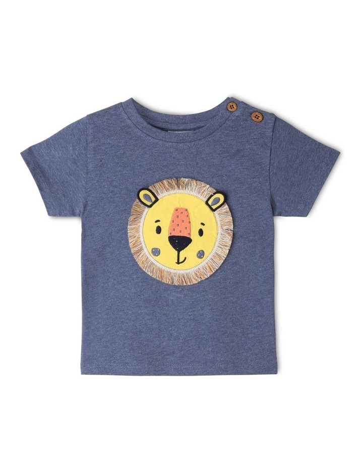 Fringed Applique Lion T-Shirt image 1