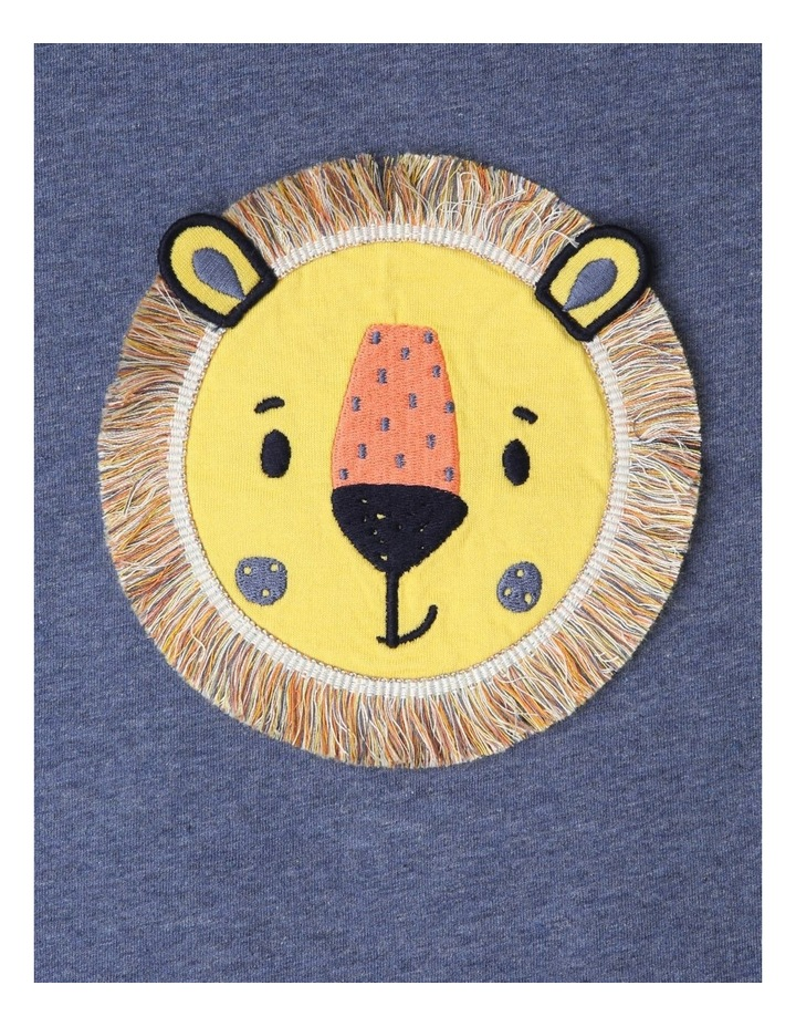 Fringed Applique Lion T-Shirt image 2