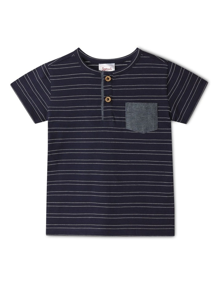 Henley Stripe T-Shirt image 1