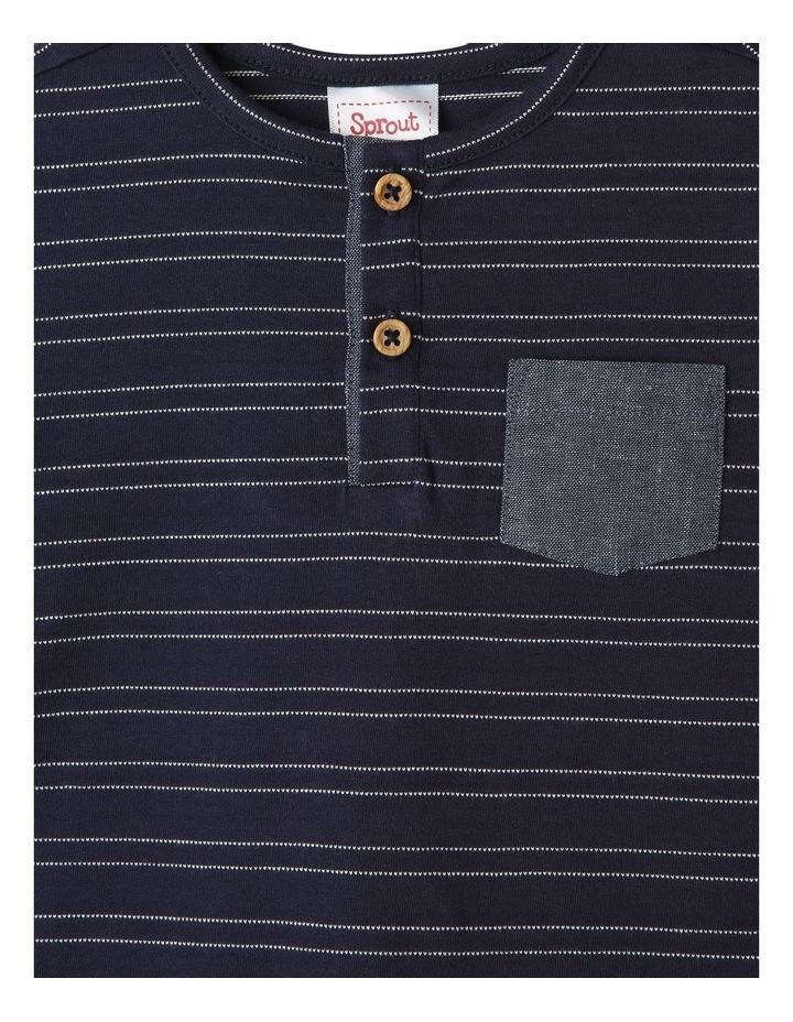 Henley Stripe T-Shirt image 2