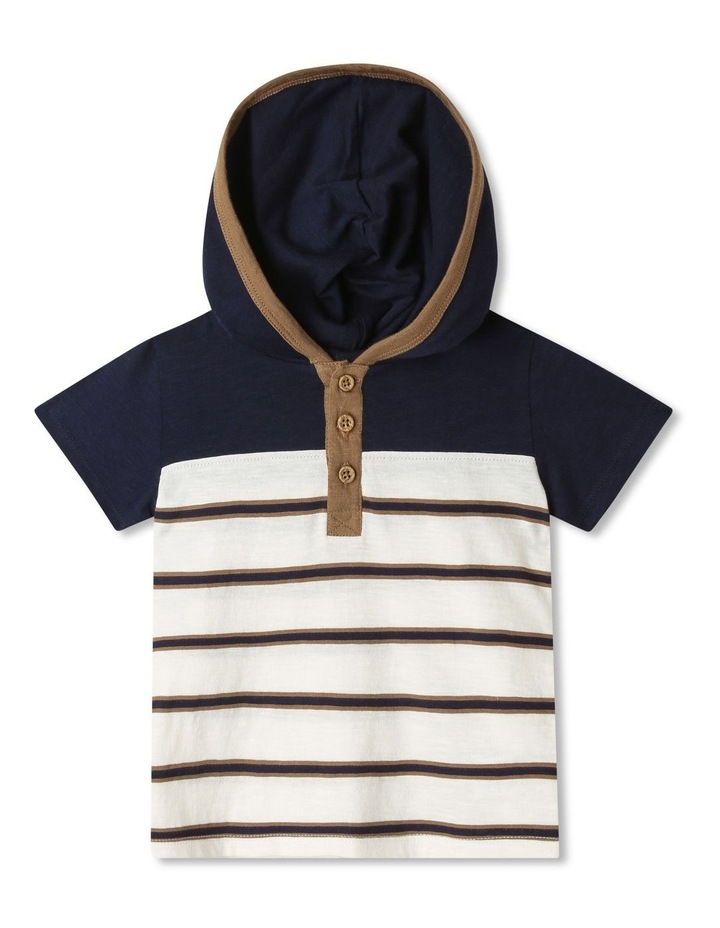 Hooded Henley T-Shirt image 1
