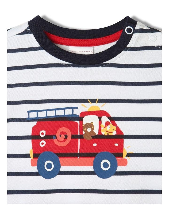 Essential Fire Engine Brilliant T-Shirt White image 2