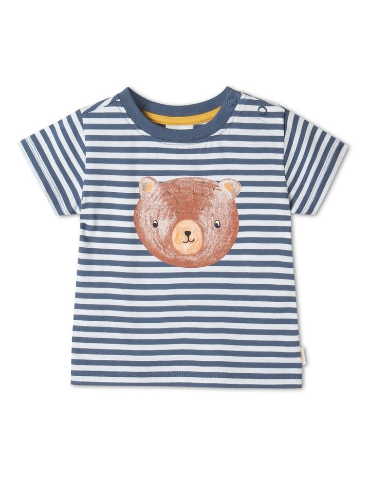 Essential Bear Face Bijou T-Shirt Blue image 1