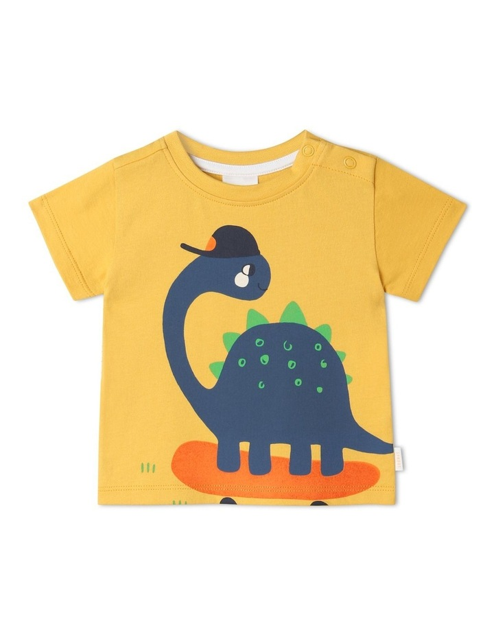 Essential Skater Dino T-Shirt Yellow image 1