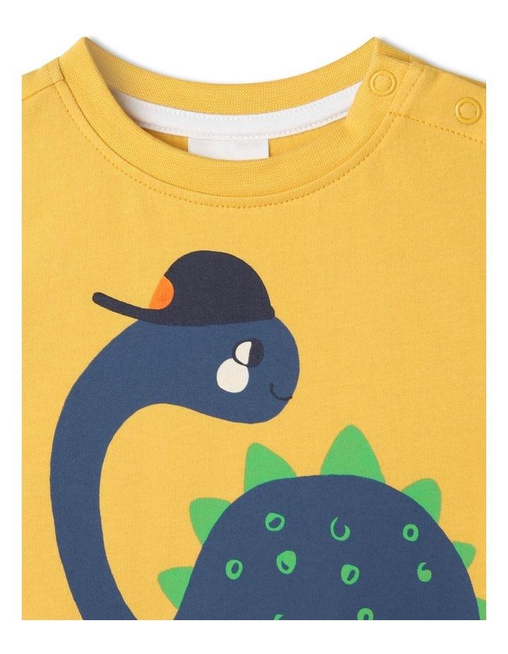 Essential Skater Dino T-Shirt Yellow image 2
